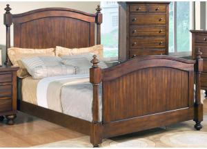 CLEARANCE-Sommer Queen Low Poster Bed by Crown Mark