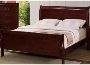 Louis Phillipe Queen Sleigh Bed by Crown Mark