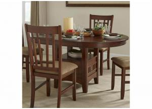 Mission Casuals Oval Dining Table w/Storage Pedestal