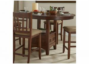 Mission Casuals Pedestal Gathering Table w/Leaf