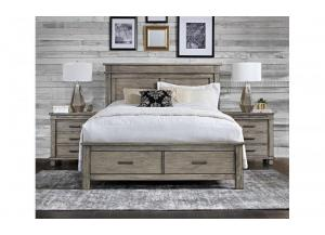 Glacier Point King Storage Bed by A.America