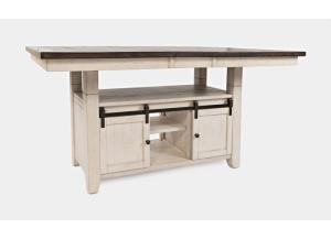 MADISON COUNTY  WHITE HIGH-LOW TABLE   by JOFRAN INC.