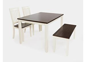 DECATUR WHITE 4 PACK DINING TABLE SET  by JOFRAN INC.