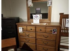 CLEARANCE-425 Dresser & Mirror by V. Basset