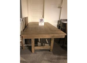 Clearance - Distressed Birch Dining Table by Klaussner