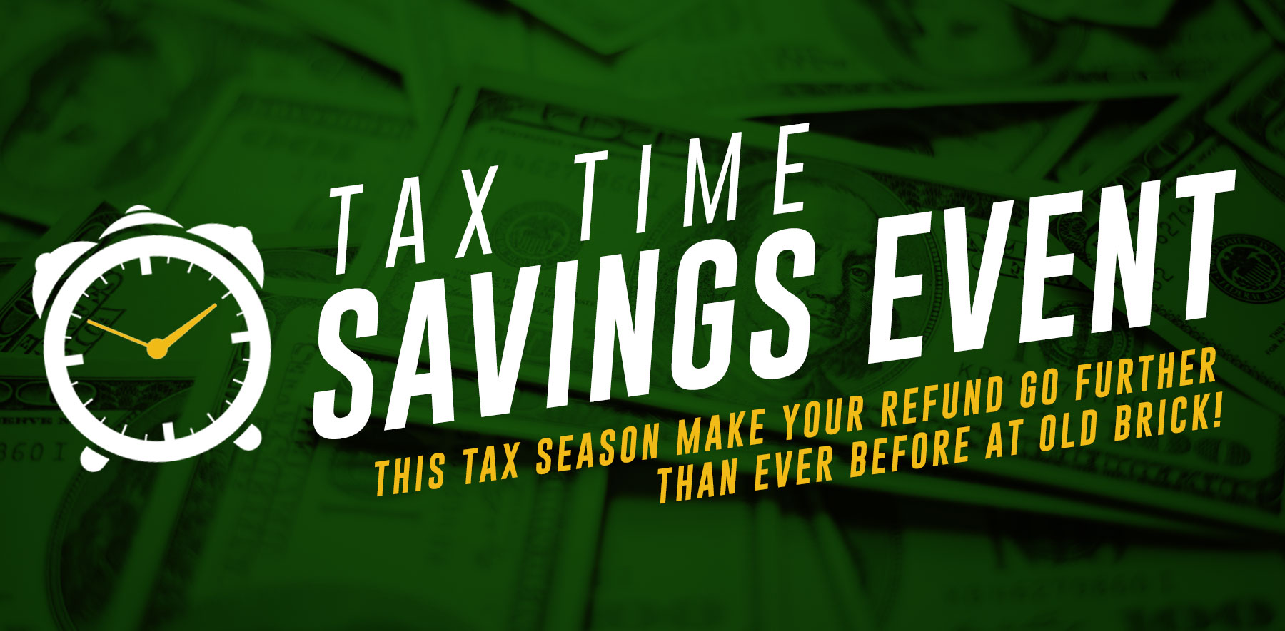 Tax Time Savings Event