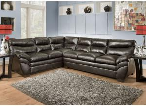 Soho Espresso Bonded Leather Sectional 9515