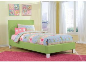 Fantasia Green Upholstered Twin Bed 60750-53/63