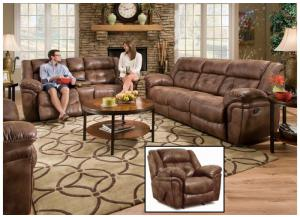 Wisconsin Chocolate Sofa and Loveseat & Recliner 50340BR
