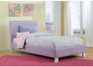 Fantasia Lavender Upholstered Twin Bed 60750-71/81