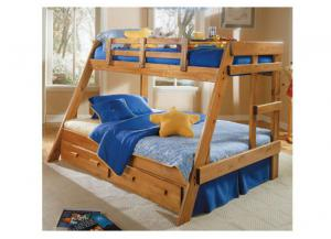 A-2650 Twin/Full A-Frame Bunk Bed