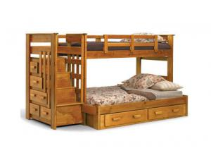 TF STH 500 Twin/Full Stairway Bunk Bed