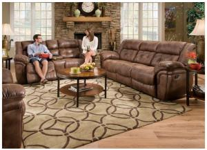 Wisconsin Chocolate Sofa and Loveseat 50340BR