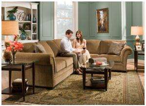 Atmore Putty Sectional w/Queen Sleeper 8030