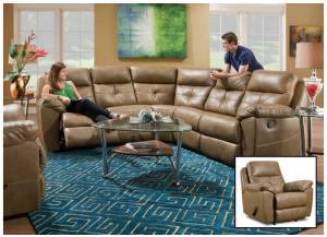 Bradford Toast Sectional w/Recliner 53200BR