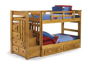 STH 500 Twin/Twin Stairway Bunk Bed