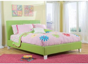 Fantasia Green Upholstered Full Bed 60750-51/61