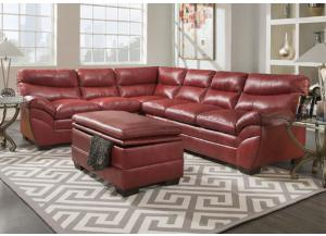 Soho Cardinal Bonded Leather Sectional w/ Ottoman 9515