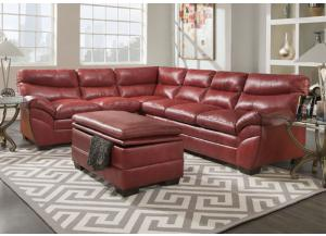 Soho Cardinal Bonded Leather Sectional 9515