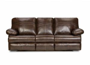 Miracle Saddle Bonded Leather Queen Sleeper Sofa 50981