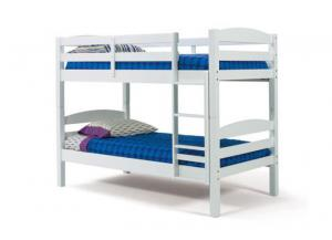 4150 Twin White Bunk Bed