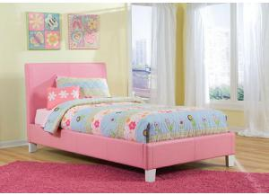 Fantasia Pink Upholstered Twin Bed 60750-73/83