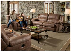 Phoenix Mocha Double Motion Sofa, Loveseat & Cuddler Recliner 50111BR