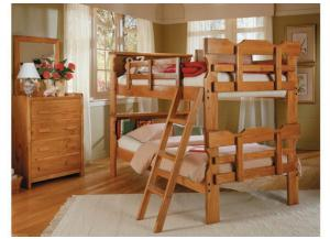 BK-1500 Bookcase Scalloped Bunk Bed