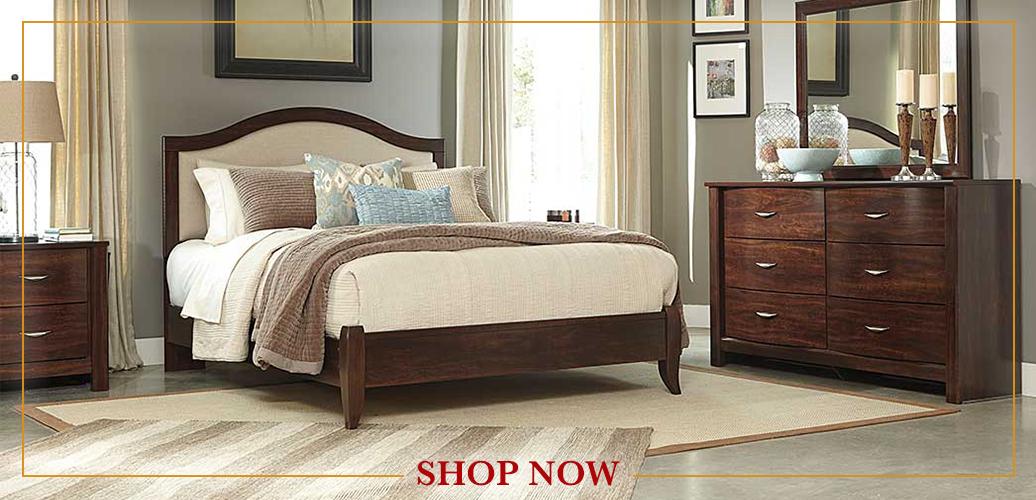 Corraya Medium Brown Queen Upholstered Panel Bed, Dresser U0026 Mirror