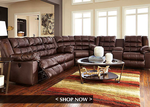 Brolayne DuraBlend Saddle Reclining Sectional