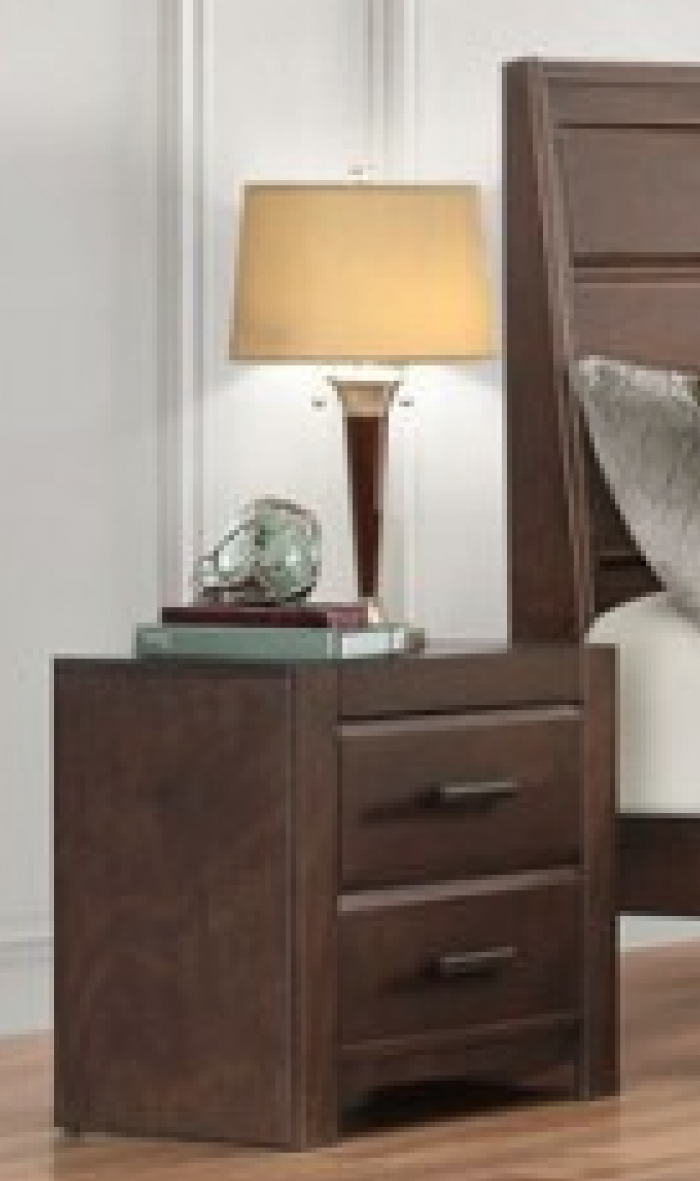 Contemporary Espresso Nightstand,Home Elegance