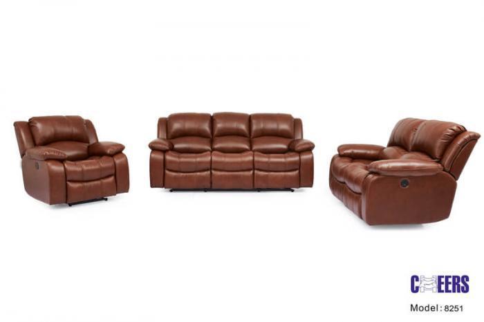 Tucker Furniture Cheers Man Wah Leather Reclining Loveseat