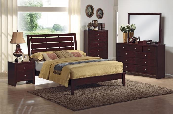 Contemporary Dark Brown 5 Pc. Bedroom Group,Crown Mark