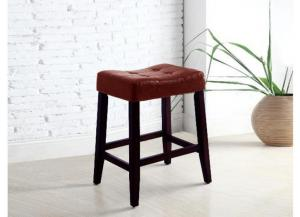 "Image for Crown Mark 24"" Red Bar Stool (1 pair)"