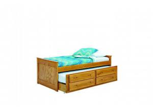 Woodcrest Heartland Captain's Bed with Trundle & Storage