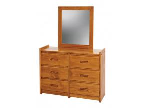 Woodcrest Heartland 6 Drawer Dresser & Mirror
