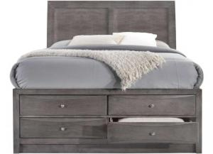 Elements Emily Grey King Storage Bed