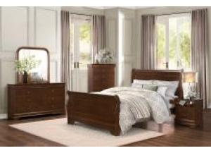 Homelegance Traditional Cherry 5 Pc. King Bedroom Group - Headboard, Footboard, Rails, Chest, Nightstand