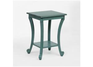 Crown Mark Claire Chairside Table Aqua