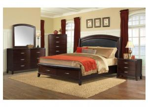 Elements Delaney Queen Storage Bed w/ Rails