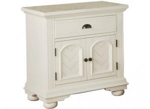 Elements Brook White Nightstand