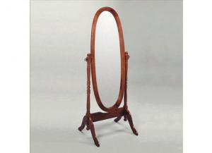 Traditional Style Cheval Mirror in Rich Cherry Finish