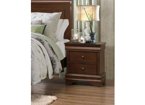 Homelegance Traditional Cherry 3 Drawer Nightstand