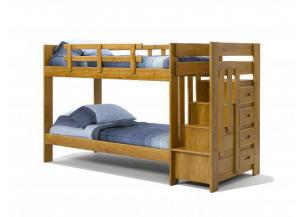 Woodcrest Heartland Reversible Staircase Twin/Twin Bunk Bed