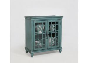 Francesca Aqua Accent Cabinet by Crown Mark
