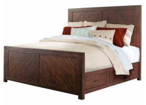 Elements JAX King Storage Bed w/ Rails