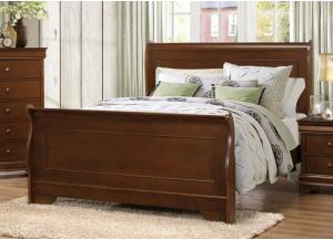 Homelegance Traditional Cherry Queen Sleigh Bed