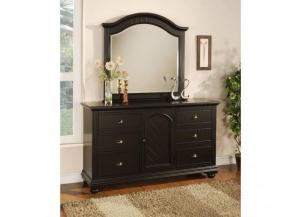 Elements Brook Black Dresser & Mirror