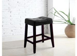 "Image for Crown Mark 24"" Black Bar Stool (1 pair)"