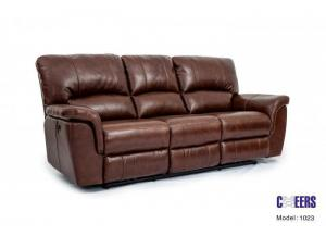 Cheers Leather Dual Reclining Power Sofa